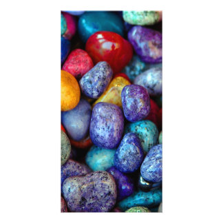 Colorful marble pebbles card
