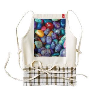 Colorful marble pebbles zazzle HEART apron
