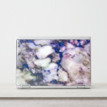 """Colorful Marble Stone And Glitter HP Laptop Skin<br><div class=""""desc"""">Modern pink white and gray marble stone texture and bright blue glitter</div>"""