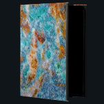 """Colorful Marble Stone Ruff Texture Print Powis iPad Air 2 Case<br><div class=""""desc"""">Colorful marble stone texture print,  ruff look. Blue green tones with brown color accents.</div>"""