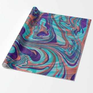 Colorful Marbleized Swirly Background