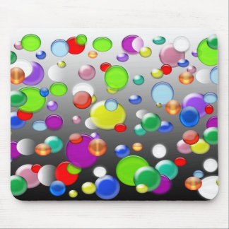 Colorful marbles and beads design mouse pad