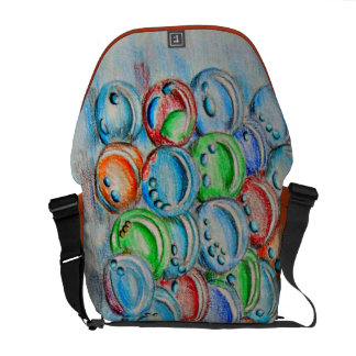 colorful marbles messenger bags