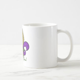 Colorful Mardi Gras Fleur De Lis Classic White Coffee Mug