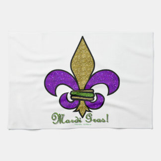 Colorful Mardi Gras Fleur De Lis Kitchen Towels