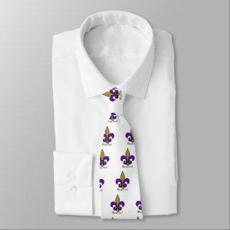 Colorful Mardi Gras Fleur De Lis Neck Tie