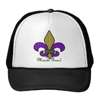 Colorful Mardi Gras Fleur De Lis Trucker Hat