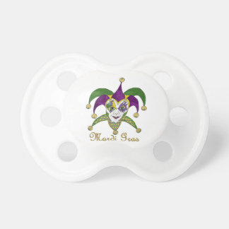 Colorful Mardi Gras Jesters Mask Pacifier