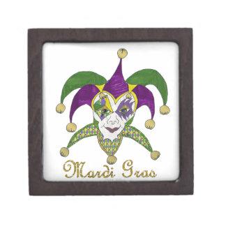Colorful Mardi Gras Jesters Mask Premium Gift Boxes