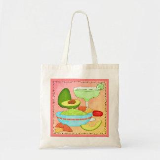 Colorful Margarita Guacamole Coral Canvas Bag