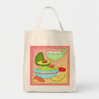Colorful Margarita Guacamole Coral Bag