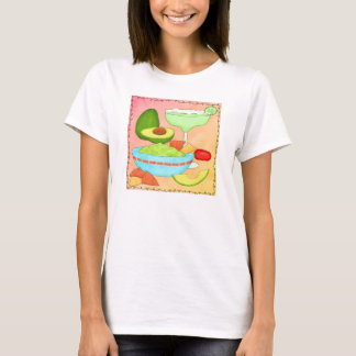 Colorful Margarita Guacamole Coral T-Shirt