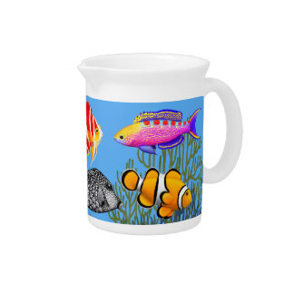 Colorful Marine Aquarium Fish Pitcher
