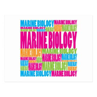 Colorful Marine Biology Postcard