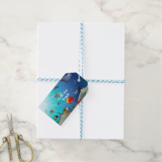 Colorful Marine Creatures Gift Tags
