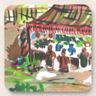 Colorful Marketplace Coasters