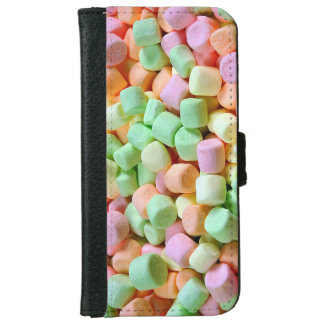 Colorful marshmallow print iphone wallet case