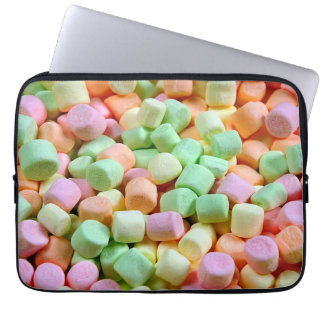 Colorful marshmallows computer sleeve