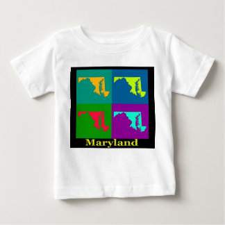 Colorful Maryland Pop Art Map Tee Shirt