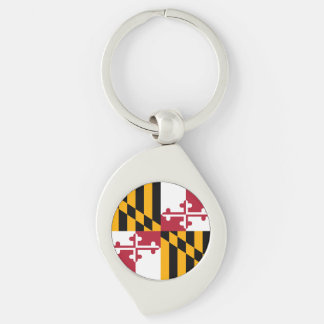 Colorful Maryland State Flag Keychain