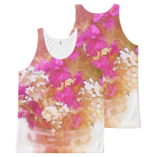 Colorful Mason Jar of Wildflowers Painting All-Over Print Tank Top