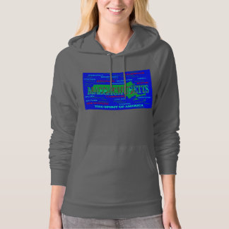 Colorful Massachusetts State Pride Map Silhouette Hoodie