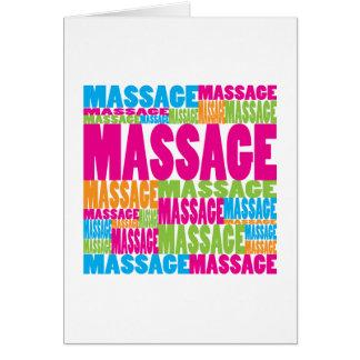 Colorful Massage Card
