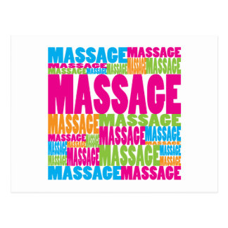 Colorful Massage Postcard