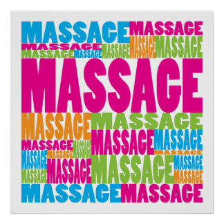 Colorful Massage Poster