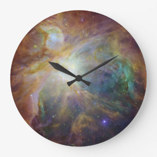 Colorful Masterpiece, Spitzer & Hubble Wall Clock