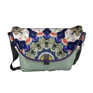 Colorful Matchbooks Abstract Messenger Bag
