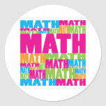 Colorful Math Round Stickers