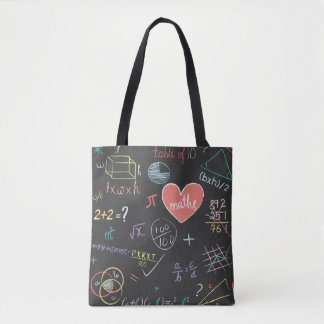 Colorful Mathematics Formula Tote Bag