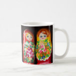 Colorful Matryoshka Dolls Basic White Mug