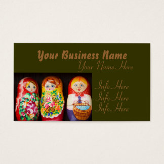 Colorful Matryoshka Dolls Business Card