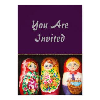 Colorful Matryoshka Dolls Card