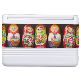 Colorful Matryoshka Dolls Drink Cooler