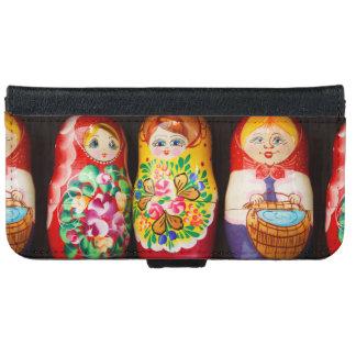Colorful Matryoshka Dolls iPhone 6 Wallet Case