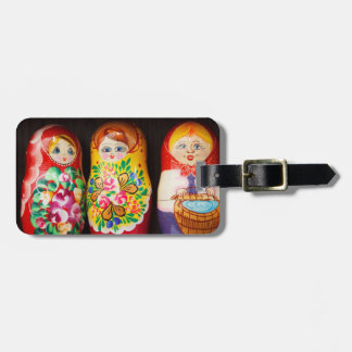 Colorful Matryoshka Dolls Luggage Tag