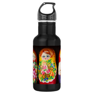Colorful Matryoshka Dolls Stainless Steel Water Bottle