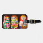Colorful Matryoshka Dolls Tags For Bags