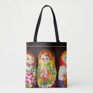Colorful Matryoshka Dolls Tote Bag