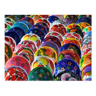 Colorful Mayan Bowls Postcard