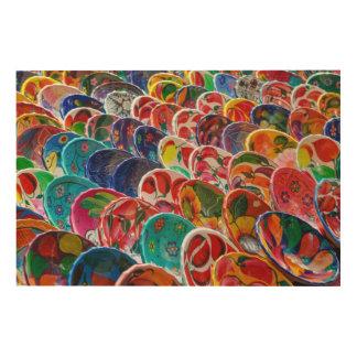 Colorful Mayan Bowls Wood Wall Art