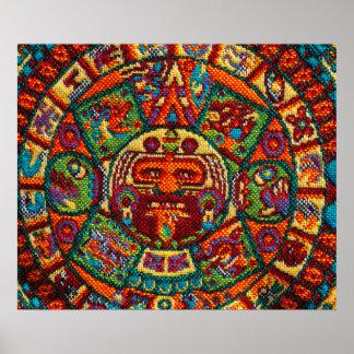 Colorful Mayan Calendar Poster