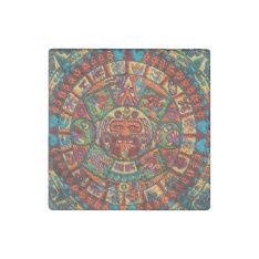 Colorful Mayan Calendar Stone Magnet at Zazzle