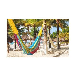 Colorful Mayan Hammock Cozumel Mexico Canvas