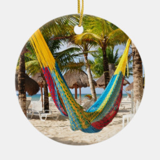 Colorful Mayan Hammock Cozumel Mexico Ornament