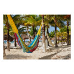 Colorful Mayan Hammock Cozumel Mexico Poster