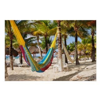 Colorful Mayan Hammock Cozumel Mexico Poster